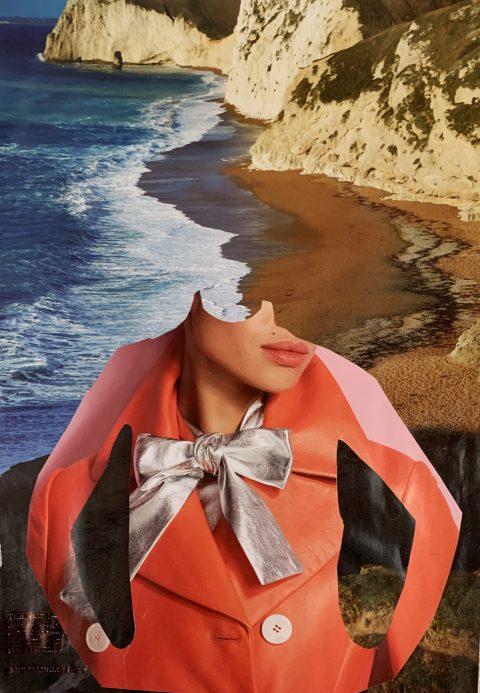 Healing Rock II collage, fashion photography, mixed media, portrait, woman, female, women in art,